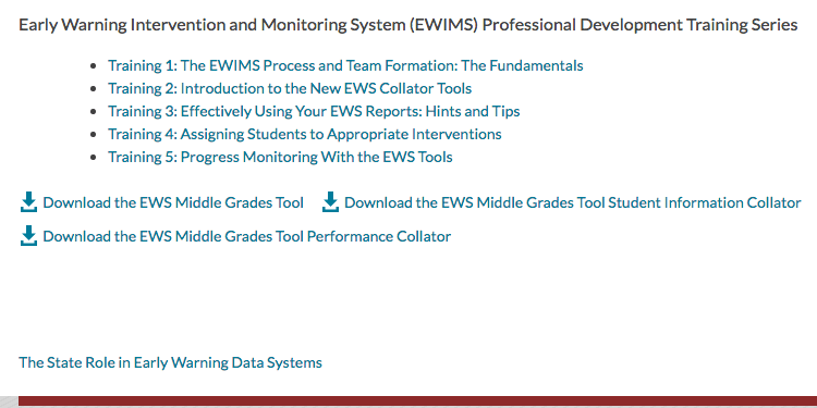 Early Warning Indicator System - Middle School Matters Institute