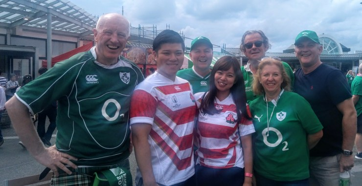 2019 Irish and Japanese fans mingling