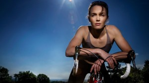 Victoria Pendleton Early Morning Cycling