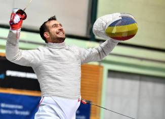 Naționala masculină de sabie a înțepat o medalie de aur la Varșovia. Foto: FIE - International Fencing Federation