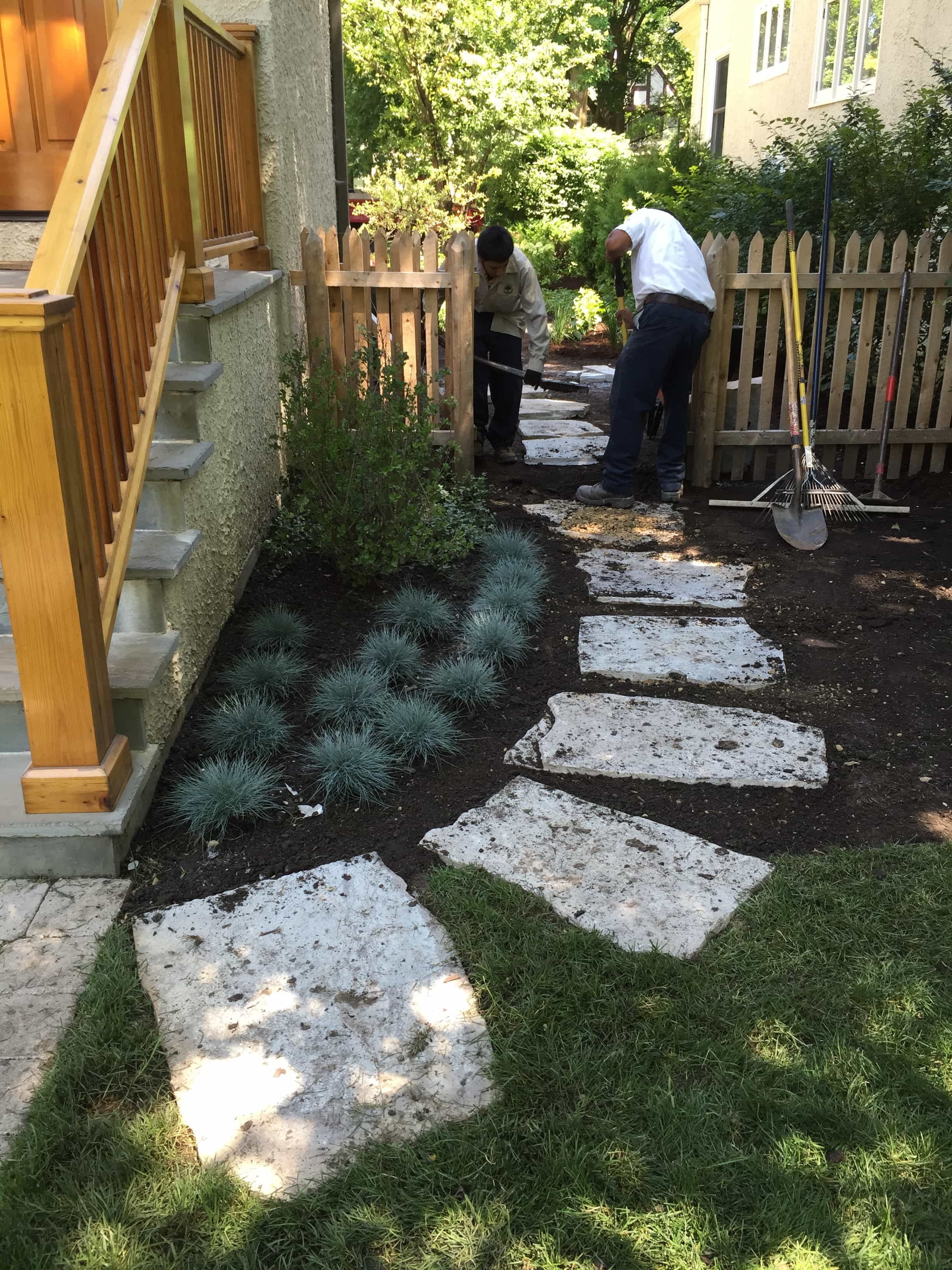 New Entry Garden  Flagstone Steppers  Wilmette IL
