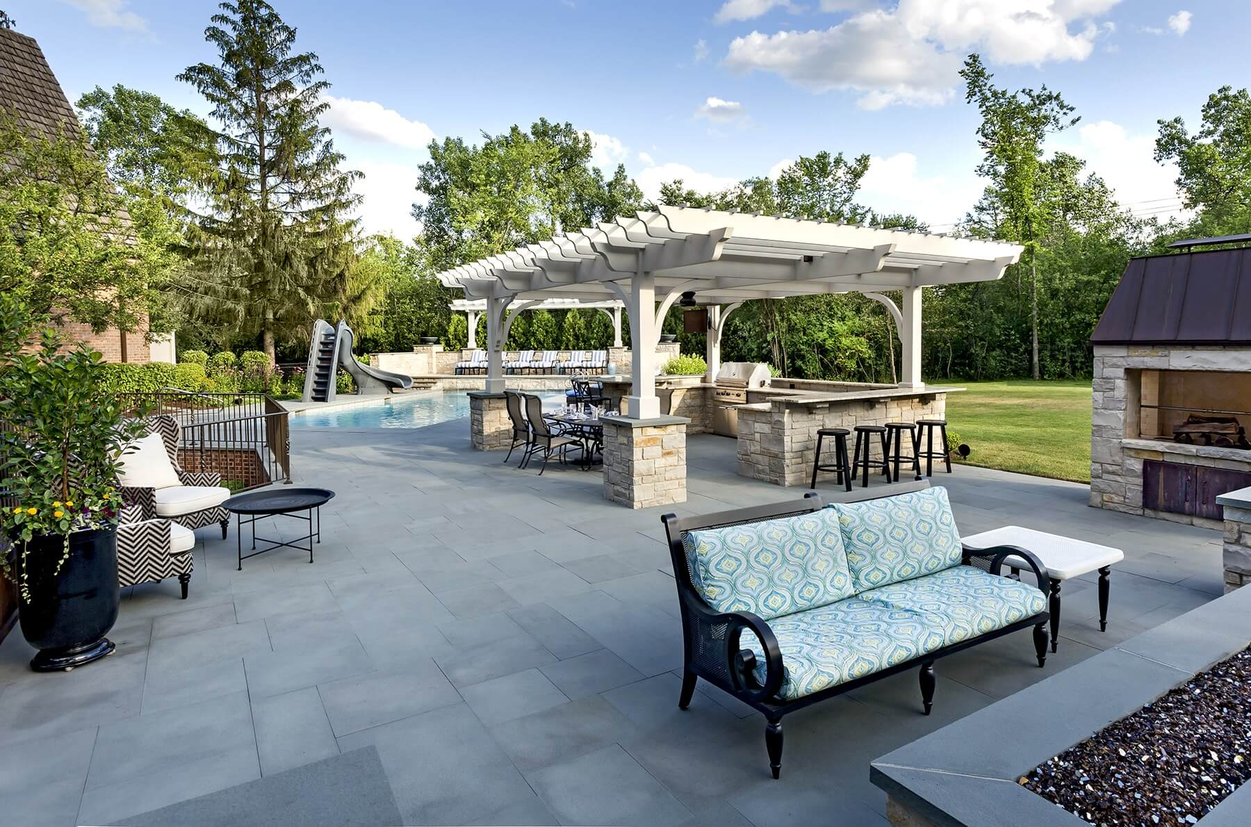 out door kitchen delta faucet spray head patio outdoor pergola ipe deck northbrook il a backyard with the wow factor