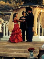 country western style wedding ceremony