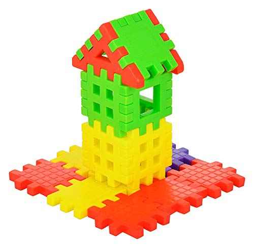 toyshine happy home 38 pcs building blocks, early learning educational toy for kids – made in india- Multi color Toys