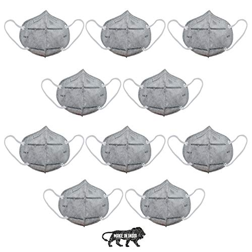 SHOPERIYA KN-95 Made in India Standard Size CE-Certified Reusable/Washable 6-Layered Outdoor Protection Face Mask with Improved Ear Loops for Men/Women -Pack of 5 Health Care