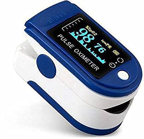 Reelom rox 1100 Fingertip Pulse Oximeter Digital LED Screen Blood Oxygen Saturation Monitor, SpO2 and Heart Rate Monitoring Made in India with 6 Month Warranty Health Care