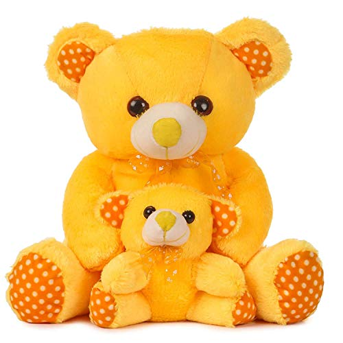 Besties Skin Freindly 100% Safe Mother BaTeddy Bear Soft Toy/Stuffed Toy, Made in India (46cm, Yellow) Toys