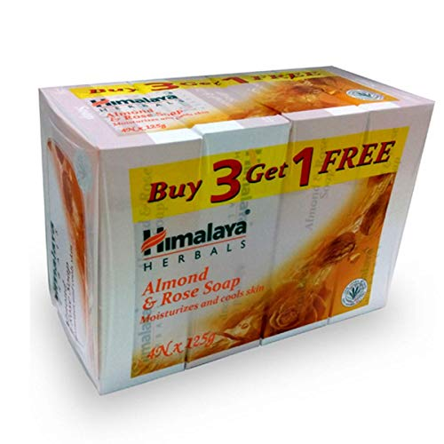 Himalaya Herbals Soap, Almond and Rose, 125g (Pack of 4) Soap