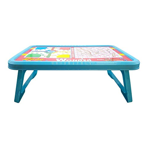Wonder Ludo Plastic Bed Table with Foldable Legs for Kids, 1 Pc, Blue Color, Made in India,KBS01101 Toys