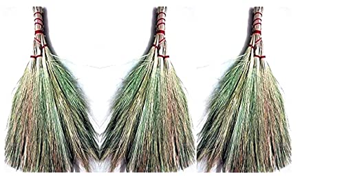 Elysium® Made in India Pure Soft and Suitable User-Friendly Khajoor Leaf Brooms for Floor Cleaning (Pack of 3) Home Care