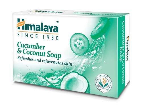 Himalaya Herbals Refreshing Cucumber Soap & Coconut Soap, 75gm Soap