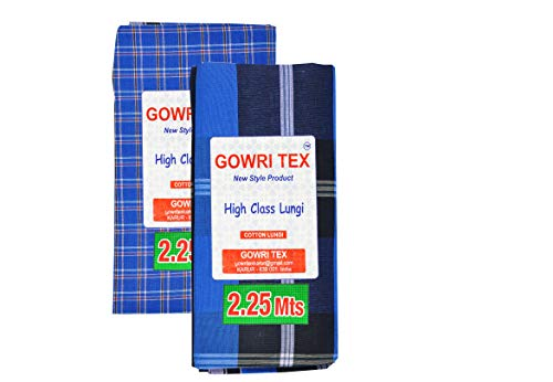Gowri Tex Cotton Stitched Lungis Pack Of 2 (Ready To Wear) 2.25Meter