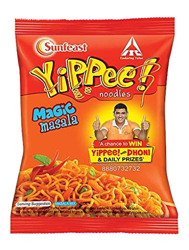 Sunfeast YiPPee! Magic Masala Long, slurpy Noodles | with Real Vegetables and nutrients | 70g Pack