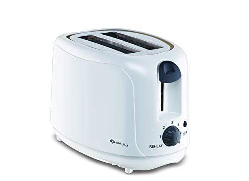 Bajaj ATX 4 750-Watt Pop-up Toaster (White) Home Appliances