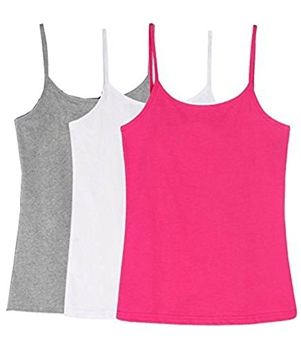 Amul Comfy Women's Cotton Camisole (Pack of 3)