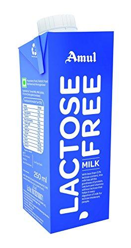 Amul Lactose Free Milk, 250ml (Pack of 4)