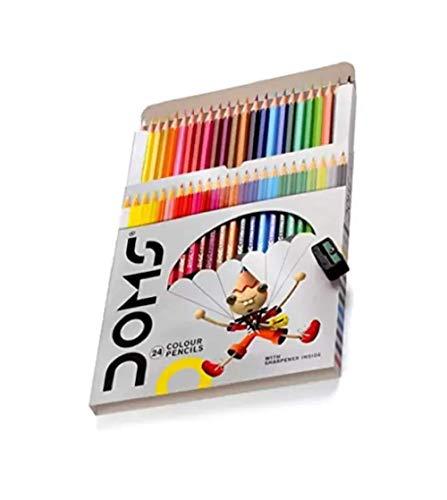 DOMS Hexagonal Colour Pencil Hexagonal Shaped Color Pencils (Set of 2, Multicolor)