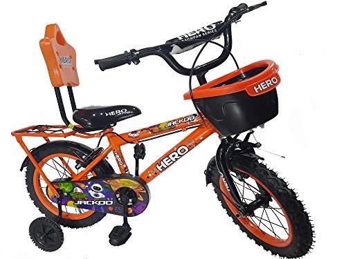 Hero Cycles 14 Kids Cycles Steel Frame Jackoo Orange (Age 2 to 5 Years)