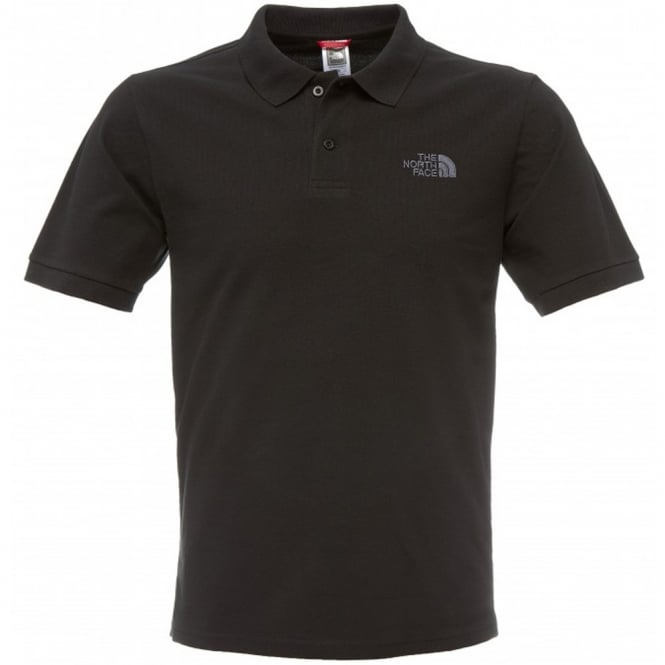 The North Face Mens Black Polo Piquet TShirt