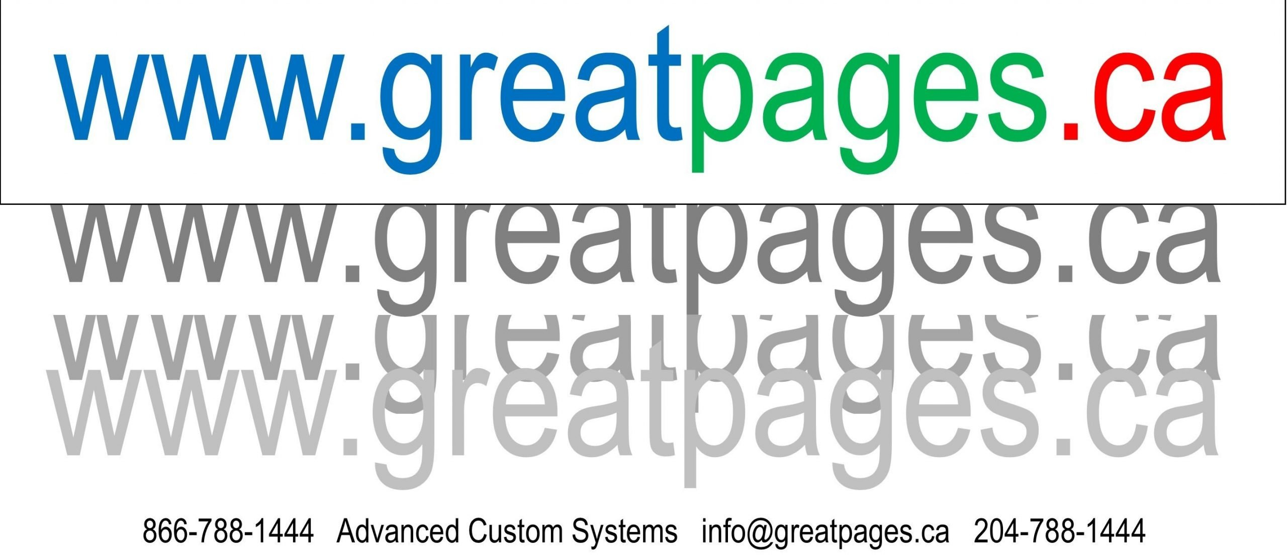 Advanced Custom Systems greatpages.ca