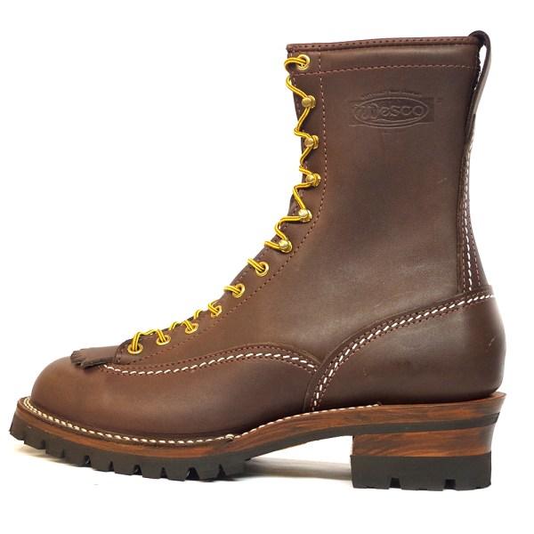 Wesco Highliner 9710100 Men Work Boots Brown Leather