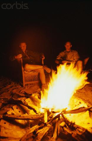 Men Sitting Around a Campfire  Great Plains Shamanic Programs