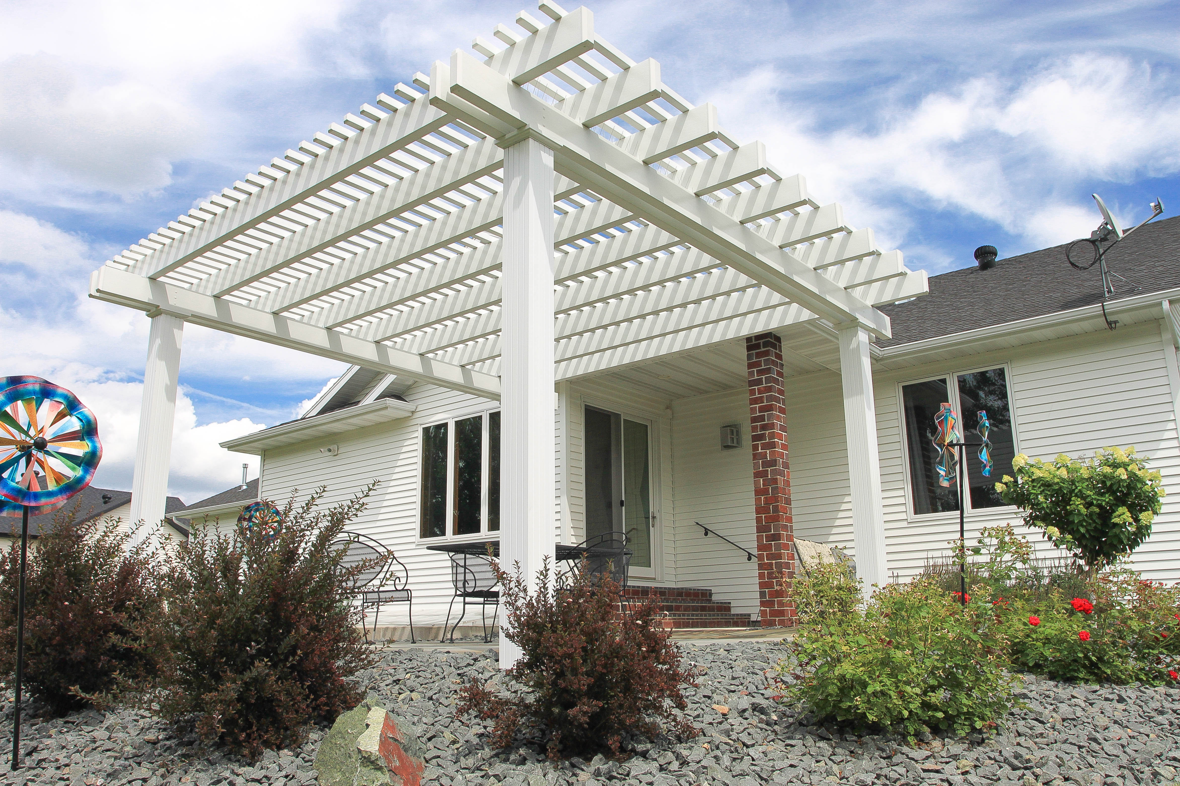 Great Plains Pergola White