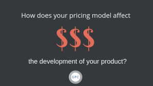 Pricing affects development