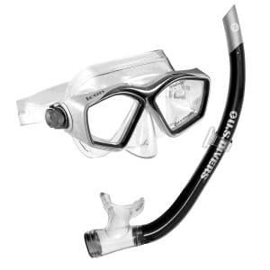 U.S. Divers Easily Adjustable Icon Mask One Size Fits Airent Snorkel Set