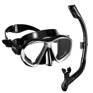 OMORC Anti-Fog Anti-Leak Snorkel Snorkeling Set for Adult Youth