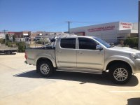 Tradesman roof rack on dual cab Toyota Hilux Archives ...