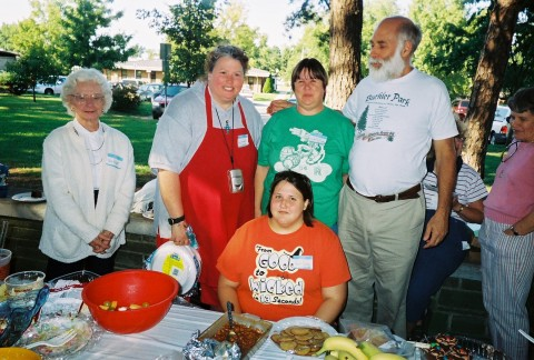 Yusha and other Rolla activists at an event held at Buehler Park in 2007.