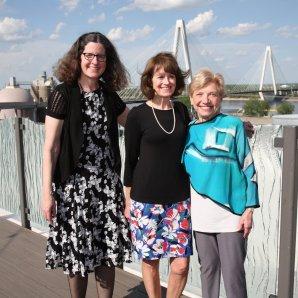President Kathleen Henry, Cynthia Holmes, Joyce Armstrong
