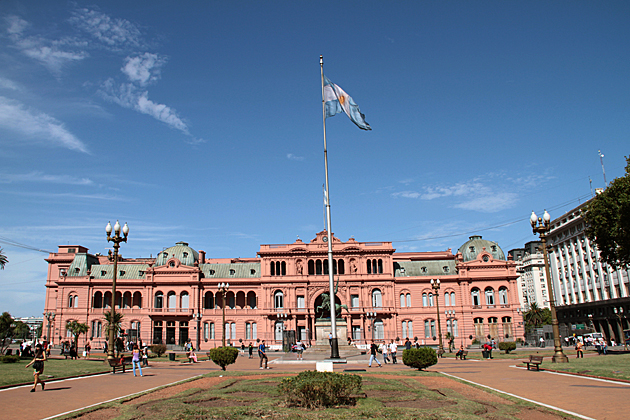 Running in Buenos Aires Argentina Run the Casa Rosada Loop
