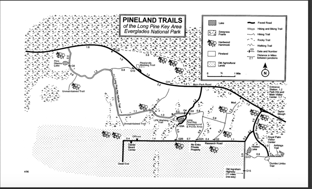 medium resolution of access is from royal palm visitor center 50 miles southwest of miami and 15 miles from homestead