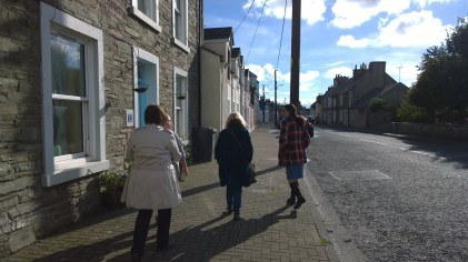 Winding our way through Whithorn.