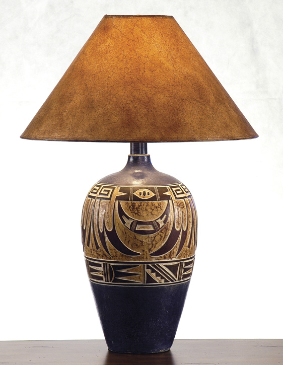 AH6182NV Southwest Style Table Lamp Southwestern Decor