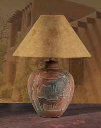 Southwest Lamps, AH-6185, Indian Deer Southwest Style ...