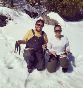 Rielly and Dominique found a fantastic little lake filled with Speckled Trout.