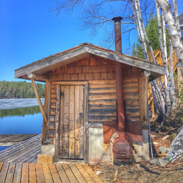 A photo of our relaxing sauna on the dock