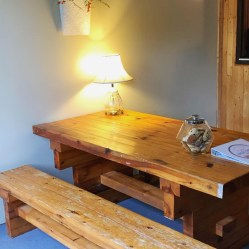 Cabins come stocked with Angela's famous chocolate chip cookies plus a book of stay information for your convenience.