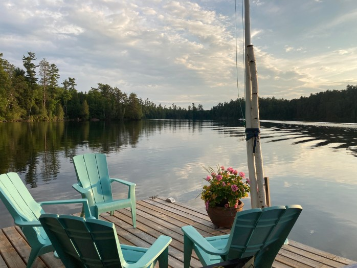 Photo perfect chairs on our beautiful dock.