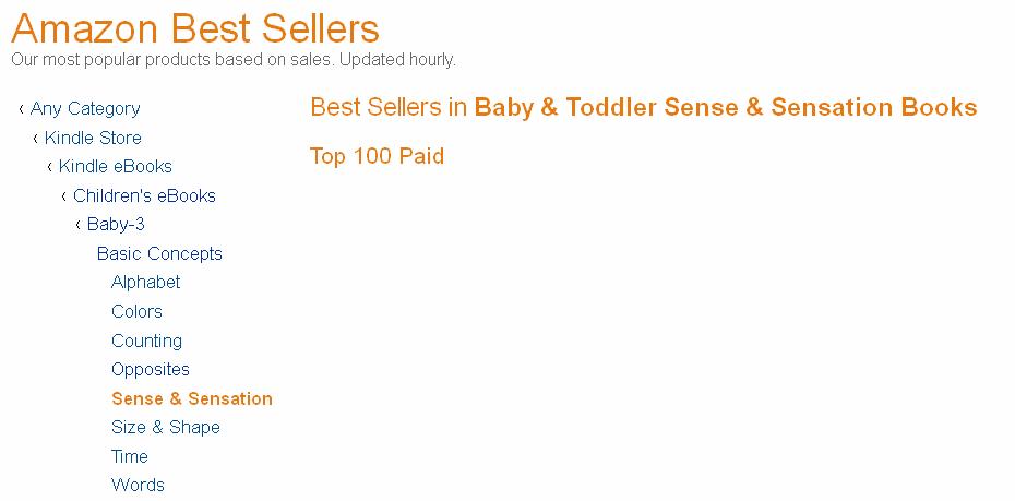 Book Categories - Amazon Bestseller