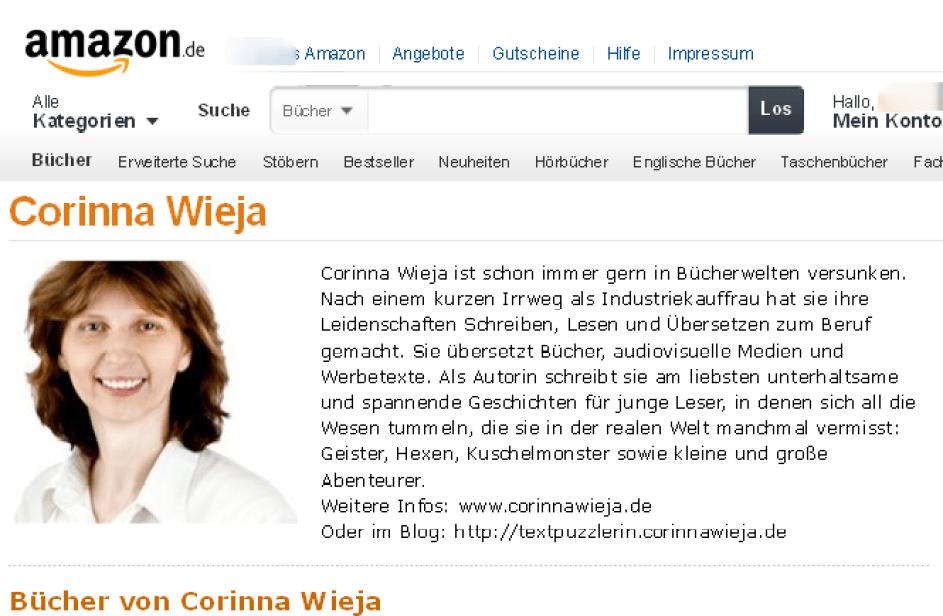 Corinna Wieja Author Page