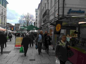 Market Day in Homburg, early Spring