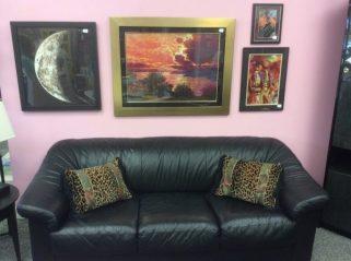 Leather sofa $175