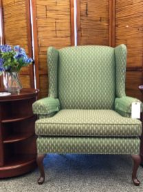 Wing chair $125 Side table $175 Screen 3 panels $59
