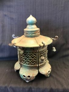 Pagoda cast iron lantern $29