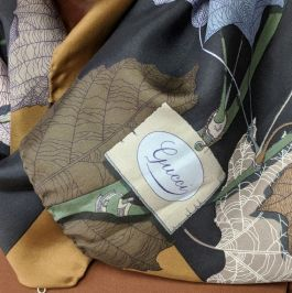 Gucci Scarf with leaf detail - $125