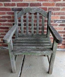 Wood Teak Chair - $49